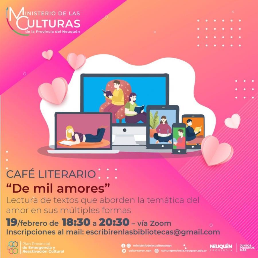 """«De mil amores"""" el primer Café Literario virtual para este año"""