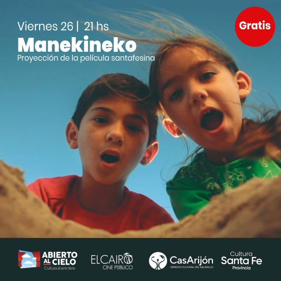 """""""Manekineko"""" Cine «Abierto Al Cielo» en CasArijon"""