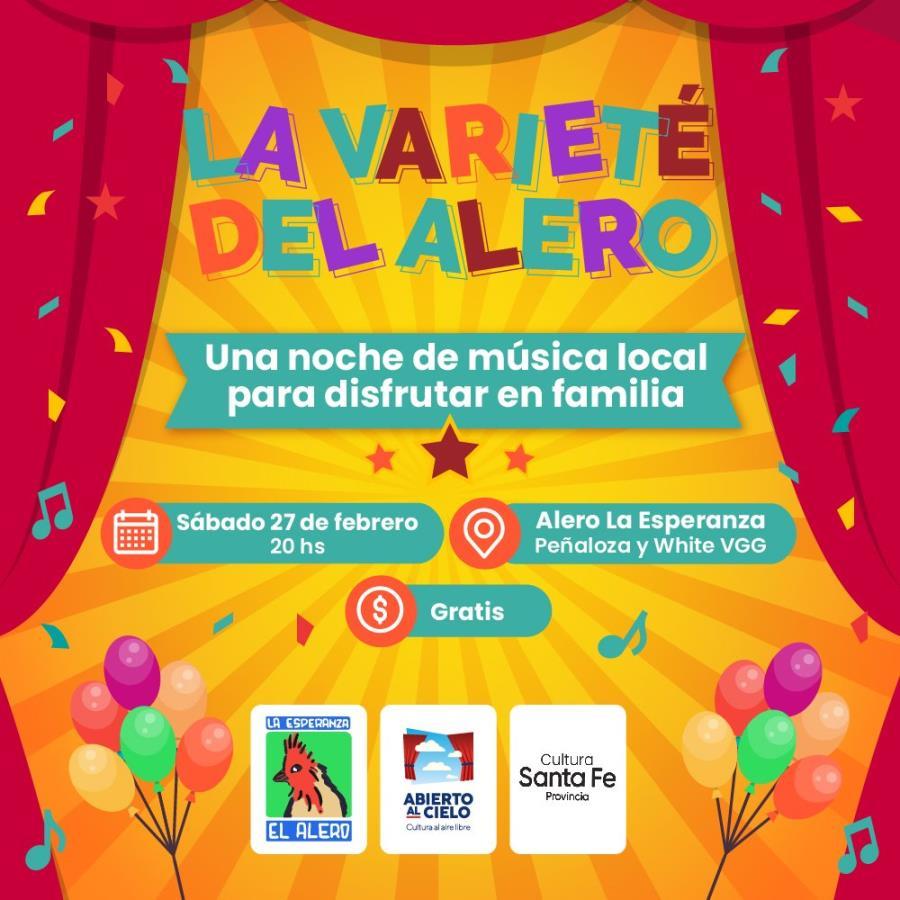 """La Varieté del Alero. """"UNA NOCHE DE MÚSICA LOCAL PARA DISFRUTAR EN FAMILIA"""" 🎶✨"""