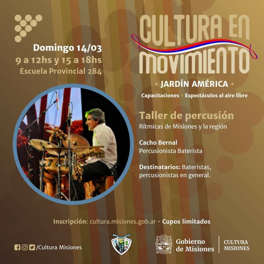 Taller de Percusión con Cacho Bernal