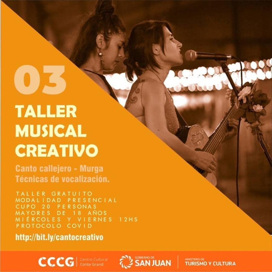 TALLER MUSICAL CREATIVO DE CANTO POPULAR, CALLEJERO Y COLECTIVO