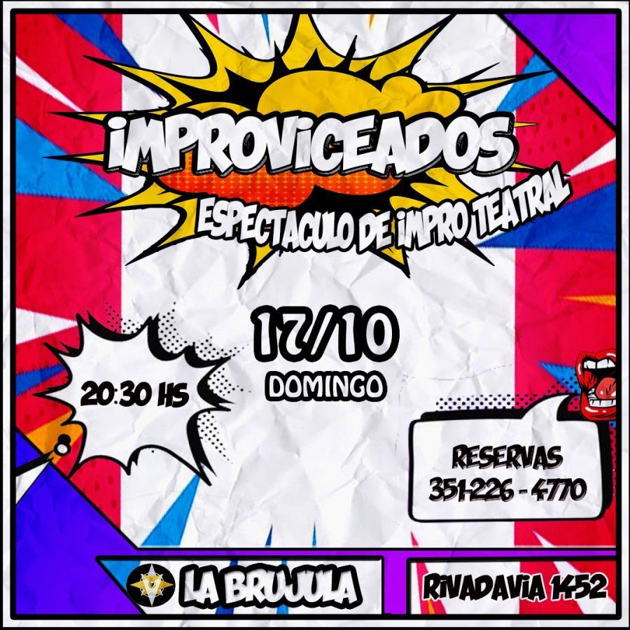 IMPROVICEADOS en Teatro La Brújula - Espectáculo de improvisación teatral