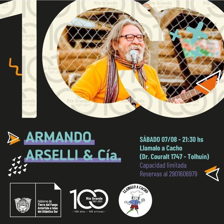 """🎉 ¡NOCHE DE MÚSICA FUEGUINA EN TOLHUIN CON """"ARMANDO ARSELLI & CÍA!"""
