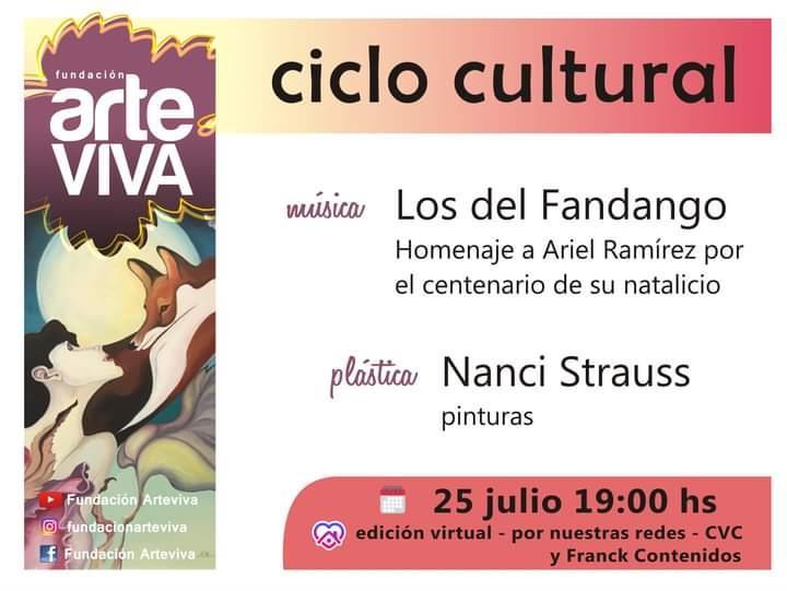 Ciclo Cultural ArteViva julio 2021