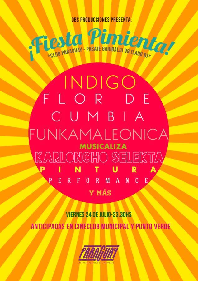 Fiesta Pimienta presenta Indigo reggae -Flor de cumbia-Funkamaleionica