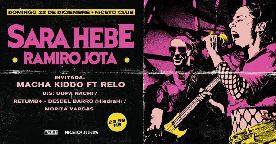 Sara Hebe & Ramiro Jota en Niceto Club