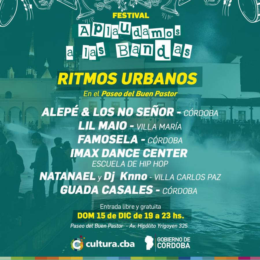 El ritmo urbano llega al Festival Aplaudamos a las Bandas