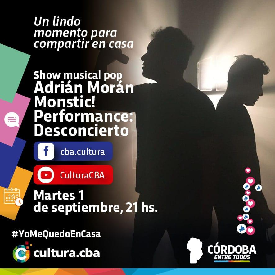 Adrián Morán y MONSTIC! presentan DESCONCIERTO