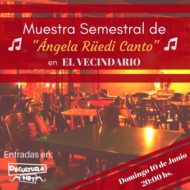 """""""MUESTRA Semestral"""" de Canto y Vocalización con Ángela Rüedi"""