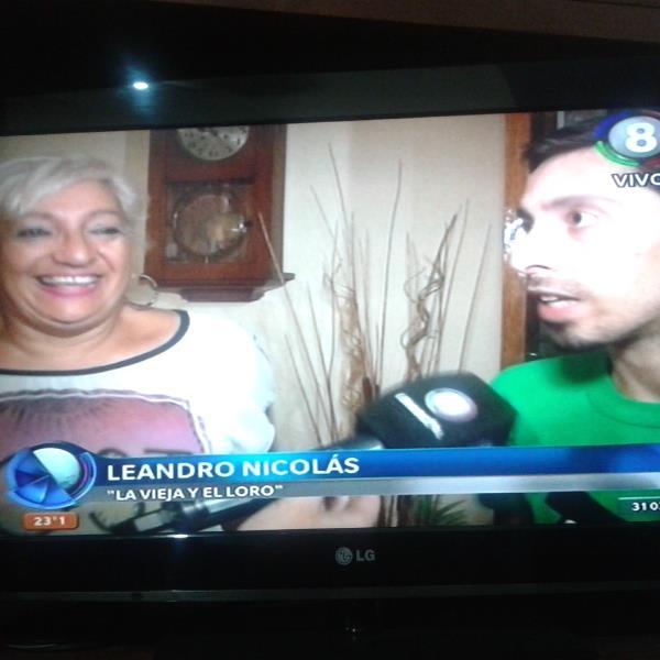Maria Elena Flamini y Leandro Nicolas, son LA VIEJA Y EL LORO