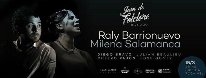 La Jam de Folclore invita a Milena Salamanca y Raly Barrionuevo