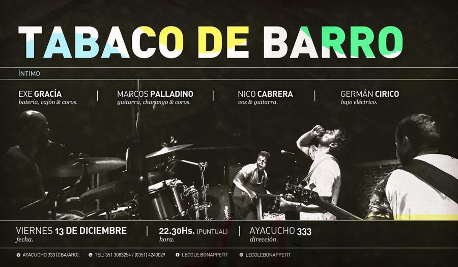 Tabaco de Barro (íntimo) en L'ecole!