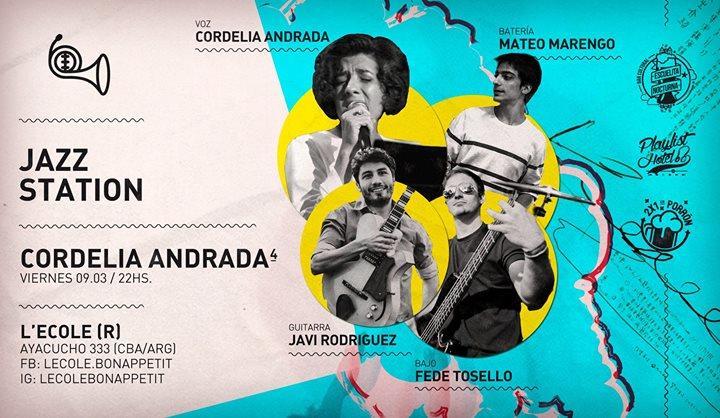 Cordelia Andrada 4tet (Jazz Station) en L'ecole!