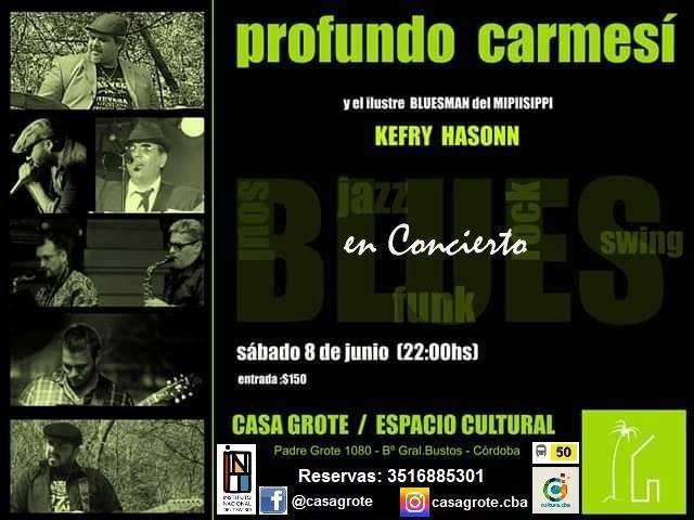 Profundo Carmesí en concierto