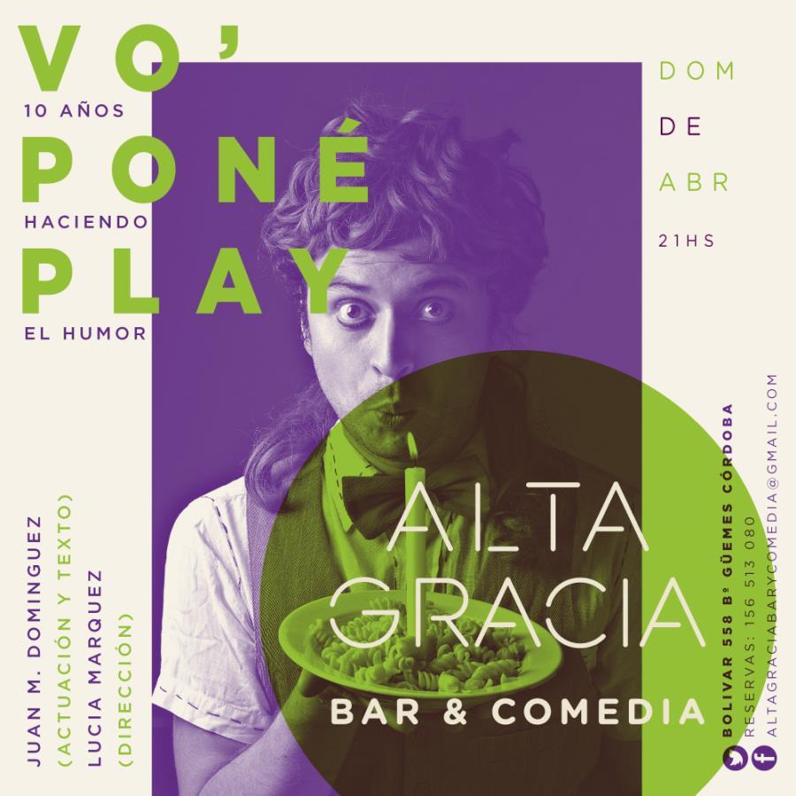 Vó Poné Play de Juan Domínguez