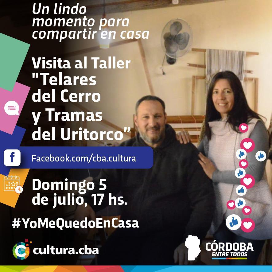 """Un lindo momento para compartir en casa -  Visita al Taller """"Telares del Cerro y Tramas del Uritorco"""" (Capilla del Monte)"""