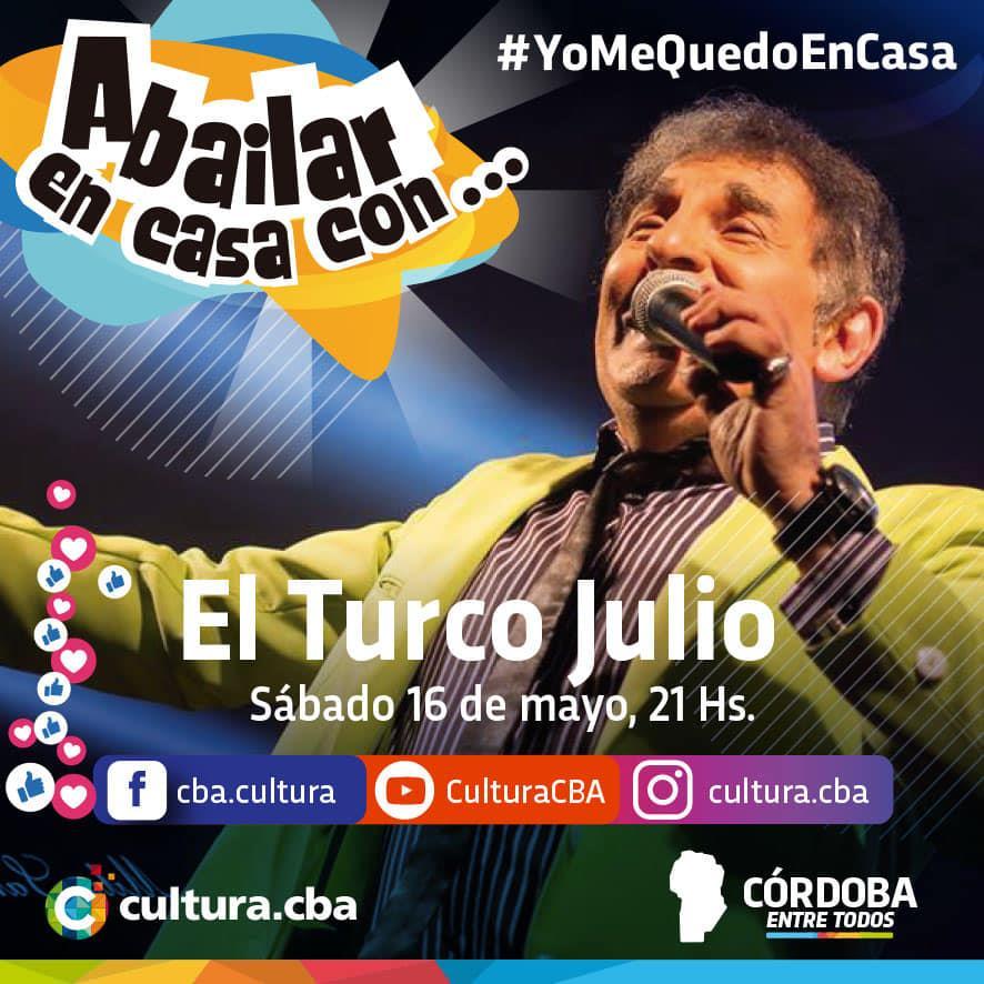 A bairlar en Casa con El Turco Julio (Facebook - Instagram y Youtube live)