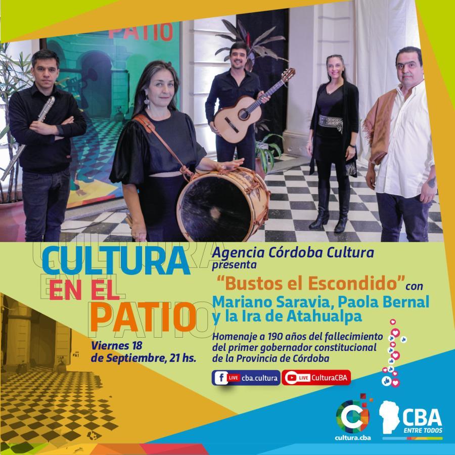 En el Patio de Cultura se presentan Paola Bernal, Jorge Luis Carabajal, Juan Martín Medina y Diego Cortez