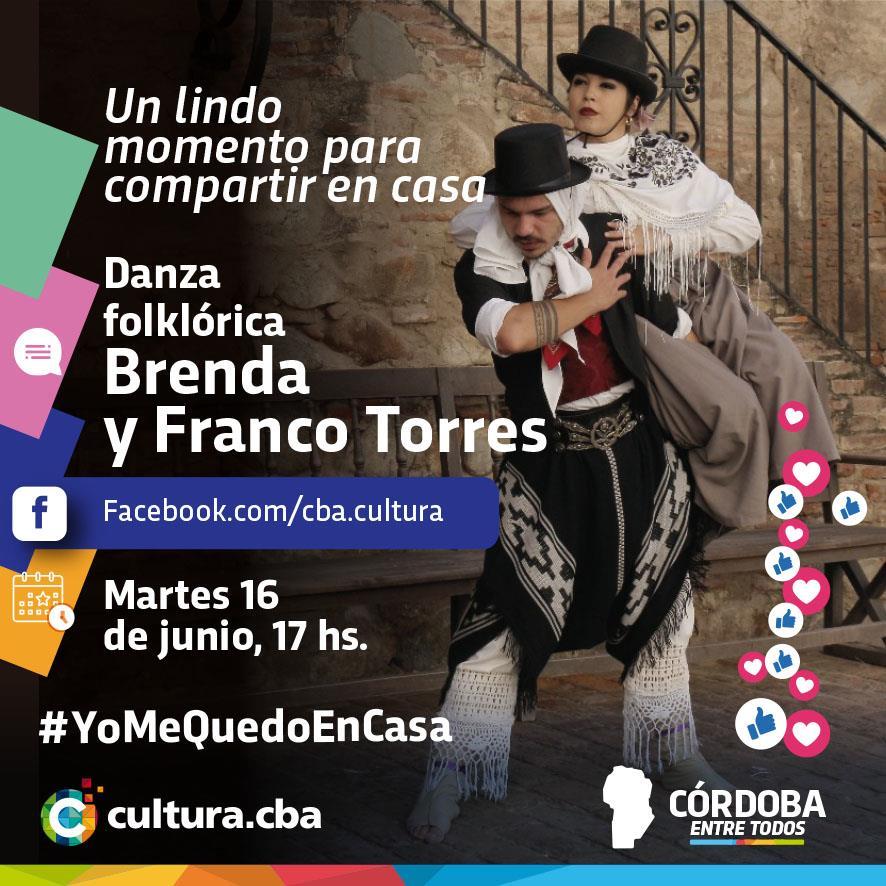 Un lindo momento para compartir en casa - Brenda y Franco Torres (danza folklórica)