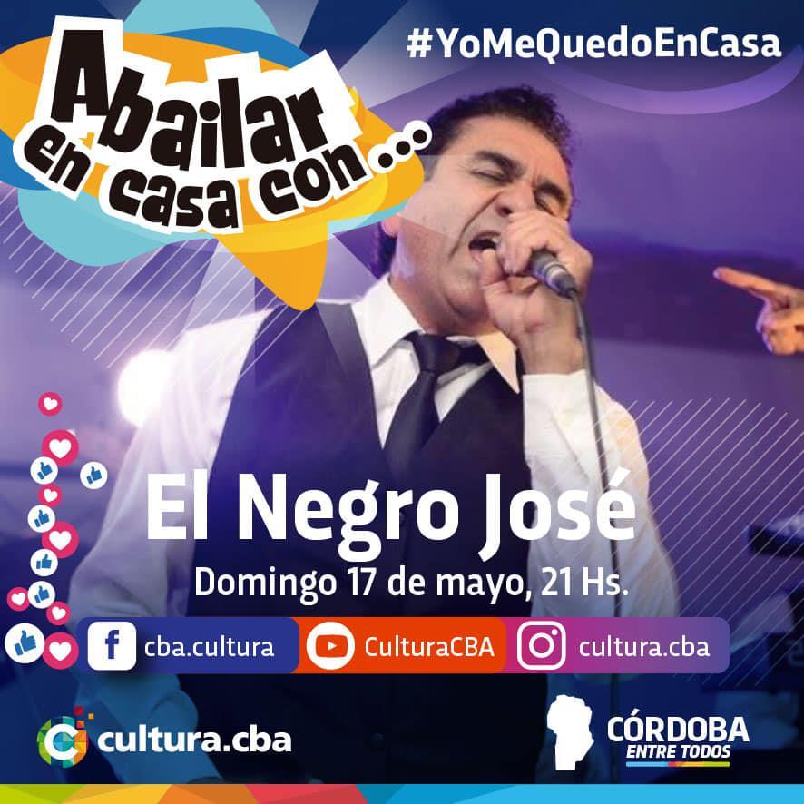 A bairlar en Casa con El Negro José (Facebook - Instagram y Youtube live)