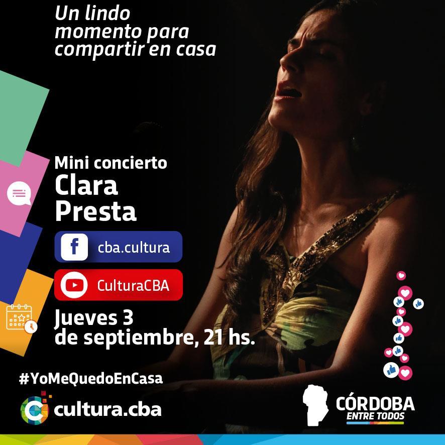 Mini concierto de Clara Presta