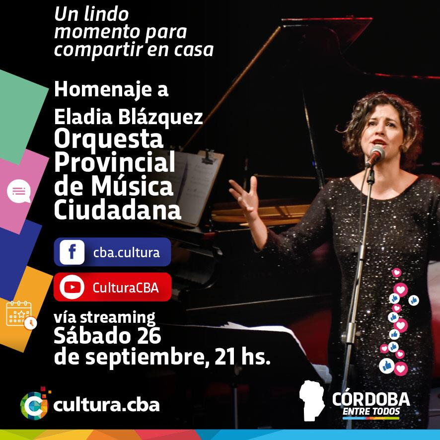 Orquesta Provincial de Música Ciudadana: Homenaje a Eladia Blázquez