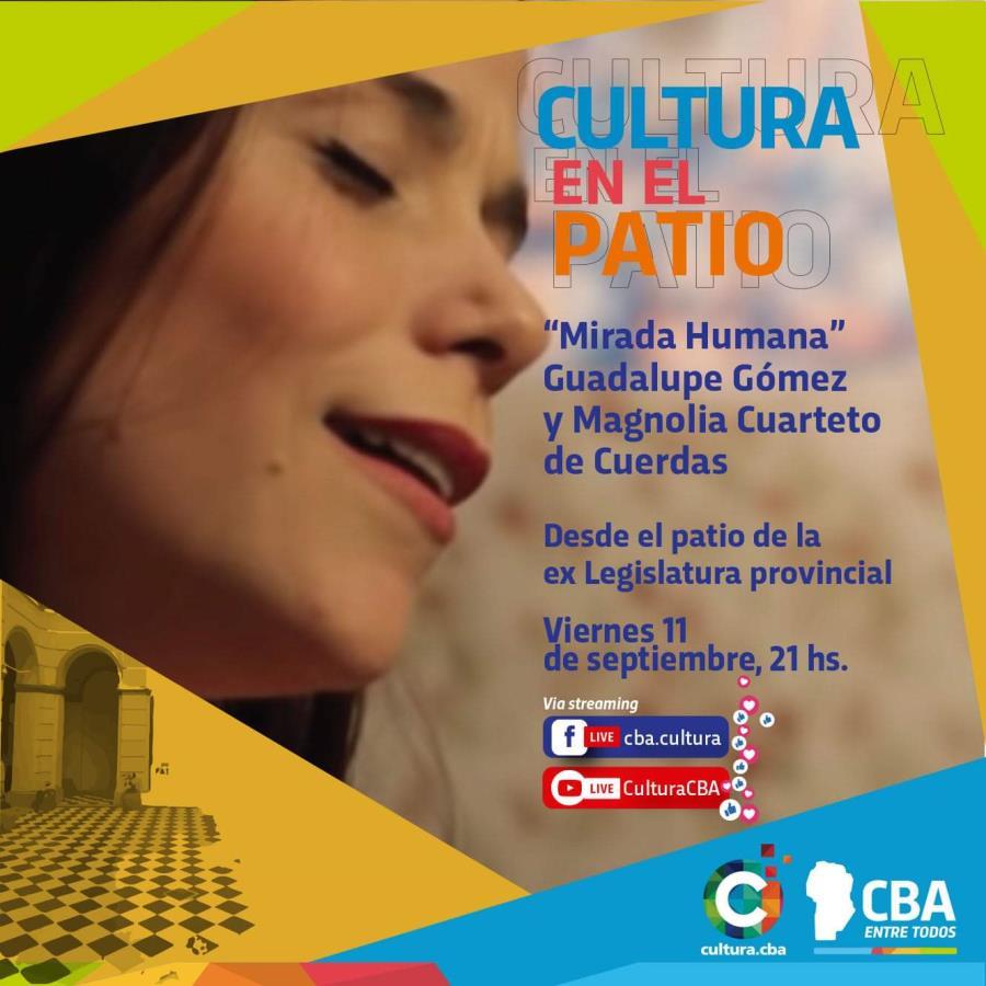 """Cultura en el patio: """"Mirada Humana"""" Guadalupe Gómez y Magnolia cuarteto de cuerdas"""
