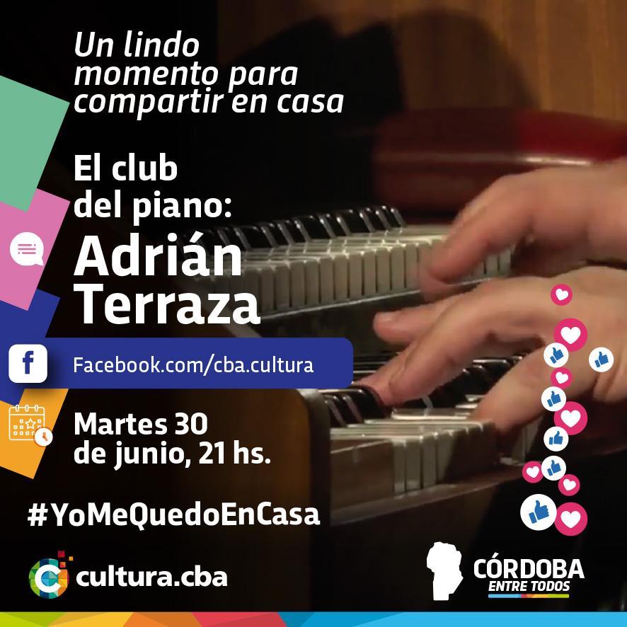 Un lindo momento para compartir en casa -  El club del piano: Adrián Terraza