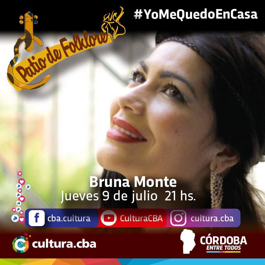 Un lindo momento para compartir en casa - Patio de Folklore: Bruna Monte (Deán Funes)