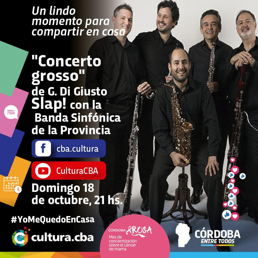 Quinteto Slap! con la Banda Sinfónica