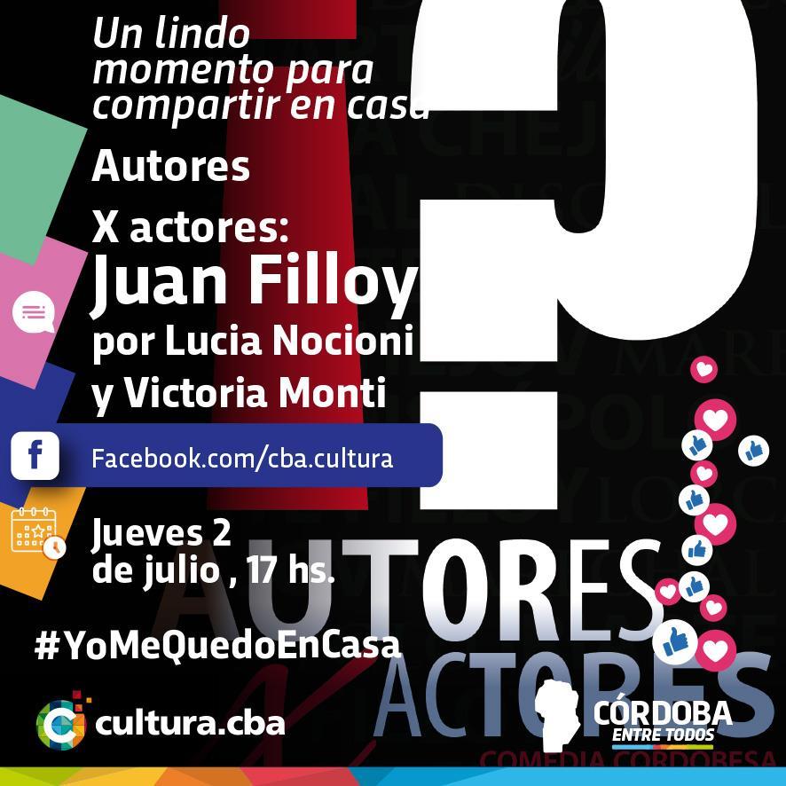 Un lindo momento para compartir en casa - Autores X actores: Juan Filloy por Lucia Nocioni y Victoria Monti