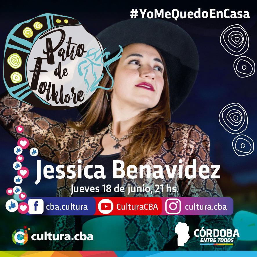 Un lindo momento para compartir en casa - Patio de Folklore: Jessica Benavidez (Jesús María)
