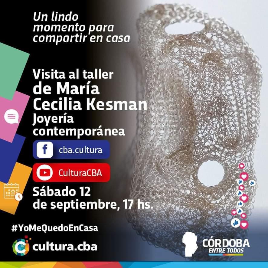 Visita al taller de María Cecilia Kesman:  joyería contemporánea