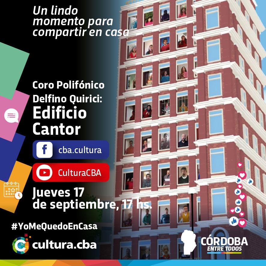 """El Coro Polifónico Delfino Quirici presenta """"Edificio Cantor"""""""