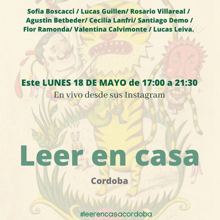 Leer en Casa Lunes 18 de Mayo - Evento por Instagram live
