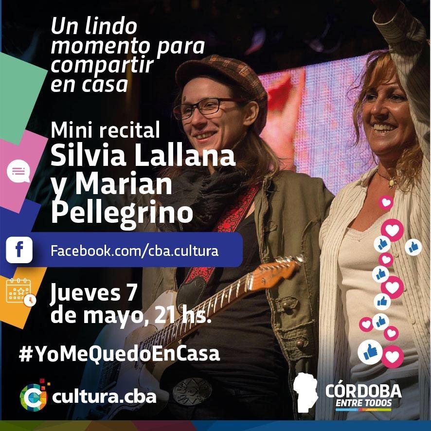 Mini recital de Silvia Lallanacon Marian Pellegrino (fans page) vivo en facebook.con/cba.cultura