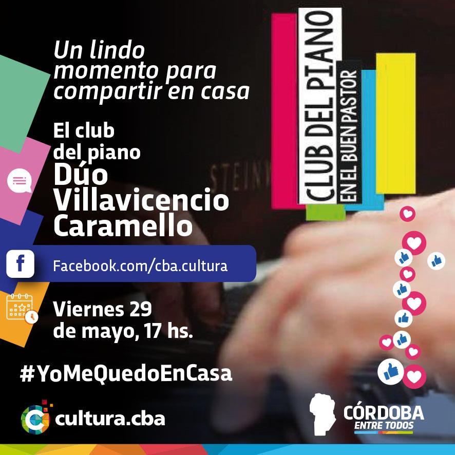 Un lindo momento para compartir en casa -  El club del piano: Dúo Villavicencio – Caramello