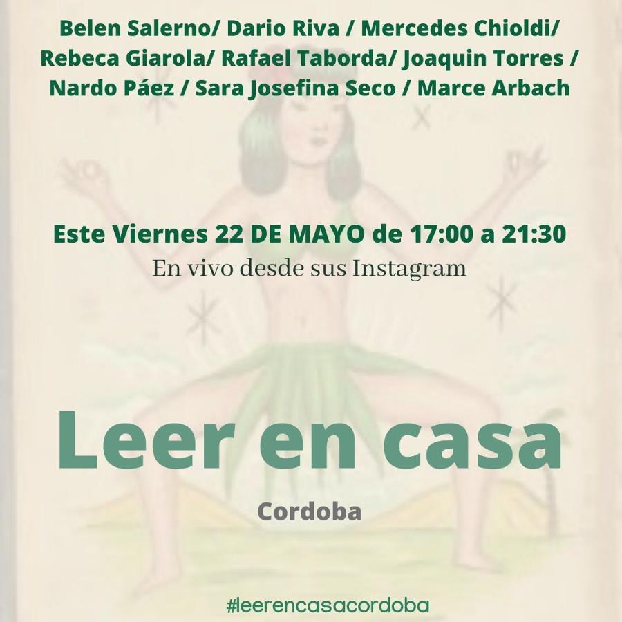 Leer en Casa - Viernes 22 de Mayo - Evento por Instagram live