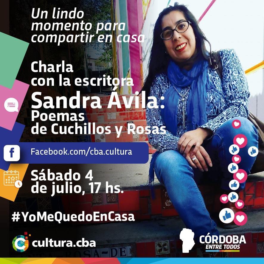 Un lindo momento para compartir en casa - Sandra Ávila: Poemas de Cuchillos y Rosas