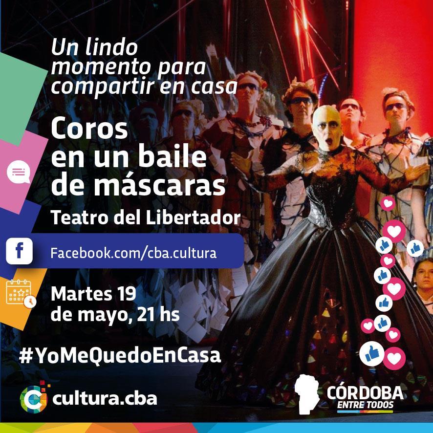 "Un lindo momento para compartir en casa - ""Un ballo in maschera"" ópera realizada en el Teatro del Libertador San Martín"