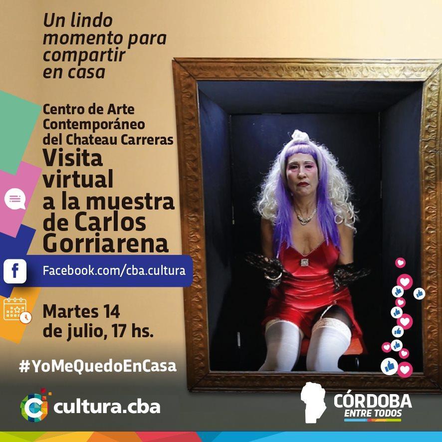 Un lindo momento para compartir en casa -  Visita virtual a la Muestra de Carlos Gorriarena