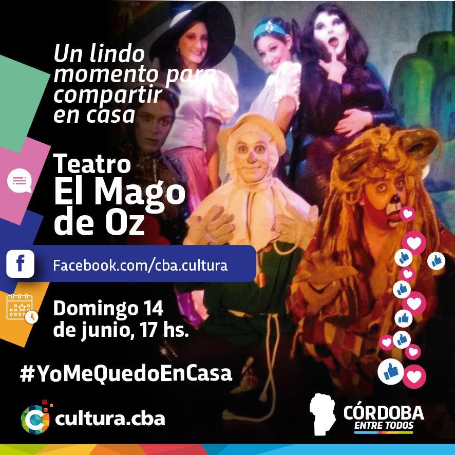Un lindo momento para compartir en casa - El Mago de Oz  (Teatro)