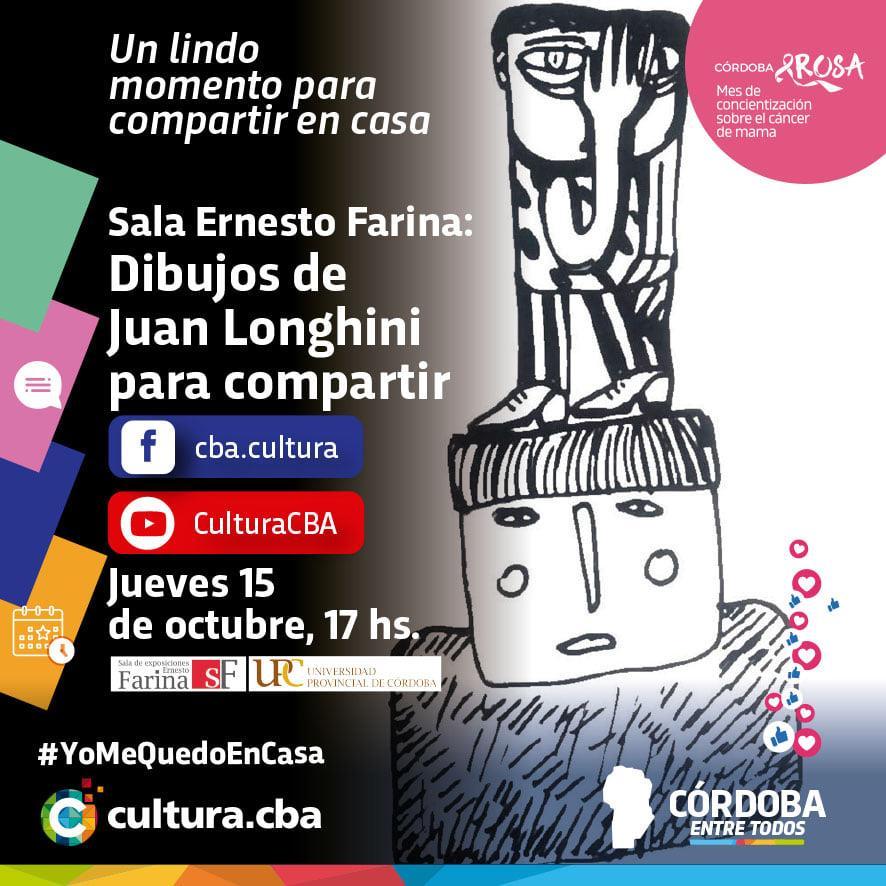 Sala Ernesto Farina: Dibujos de Juan Longhini para compartir