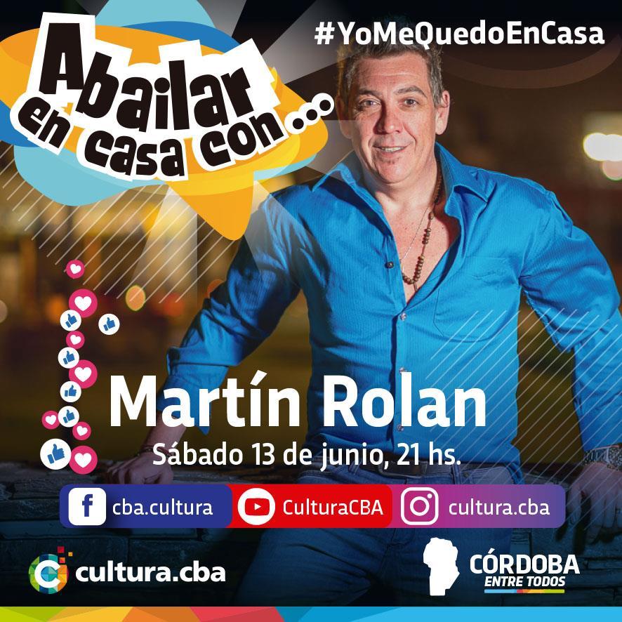 Un lindo momento para compartir en casa - A bailar en Casa con… Martín Rolan