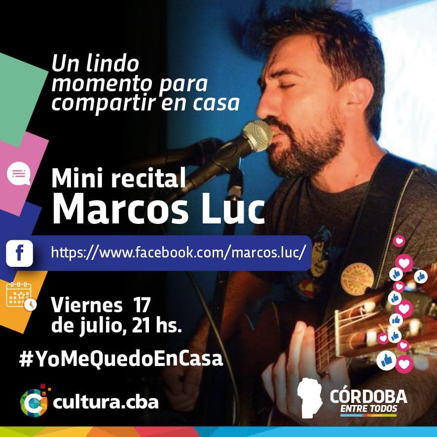 Un lindo momento para compartir en casa - Mini recital de Marcos Luc