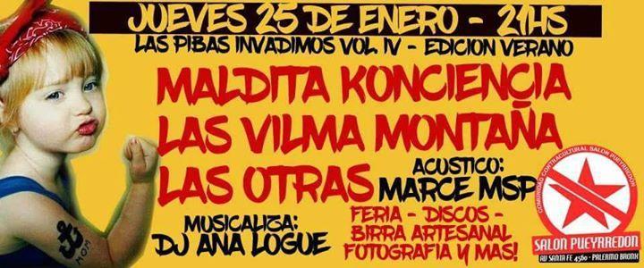 JUE 25/01: Las Pibas invadimos al Salón VOL. IV