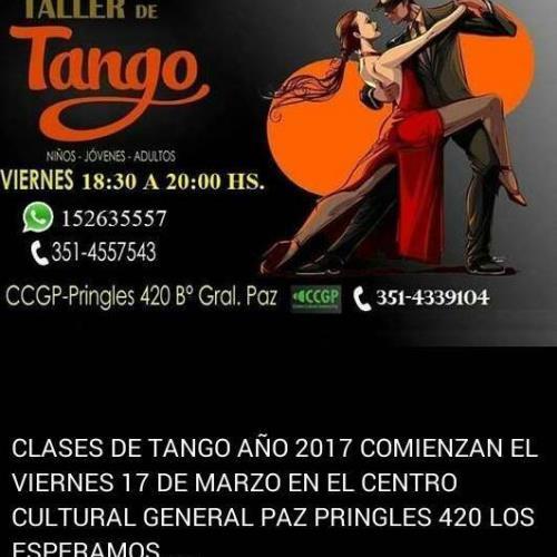 Taller de Tango (Niños, Jóvenes y Adultos)