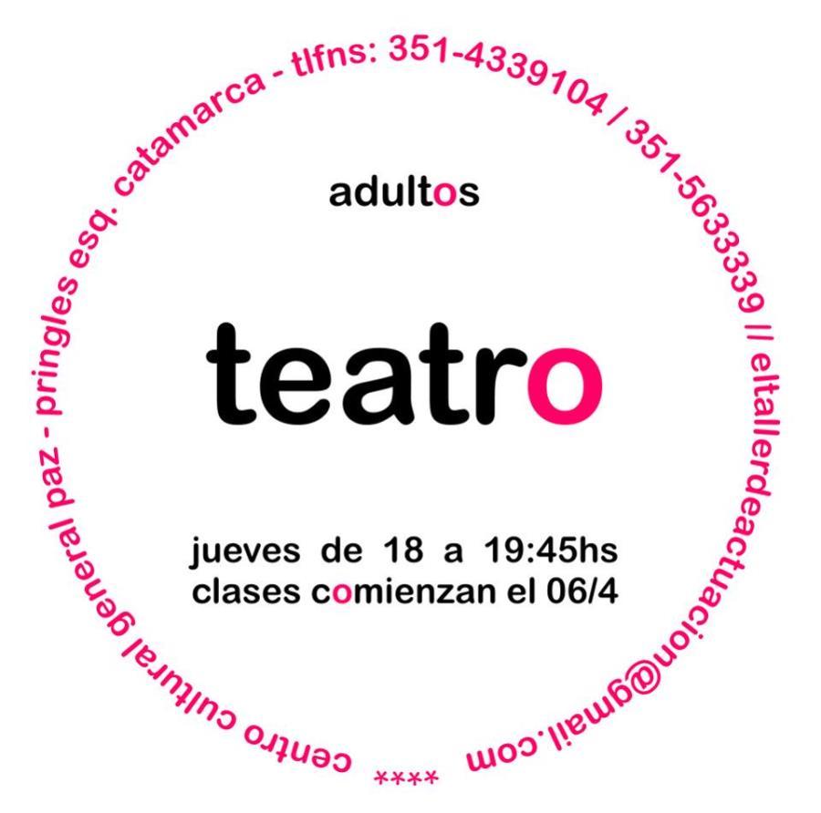 Taller de Teatro para Adultos