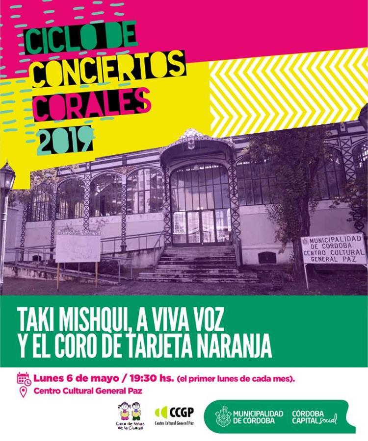 """Ciclo de Conciertos Corales: """"Taki Mishqui, A viva voz y el Coro de Tarjeta Naranja"""""""