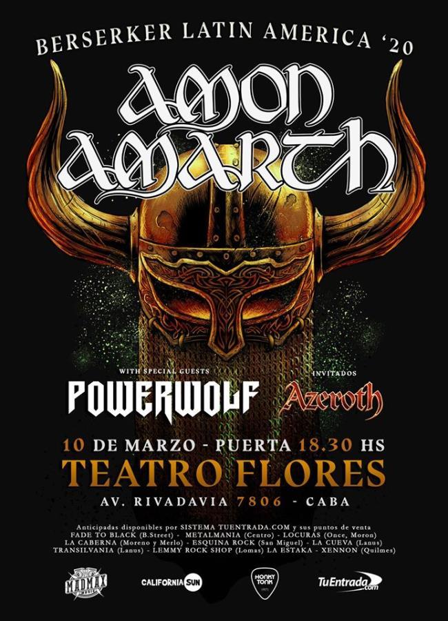 AMON AMARTH y POWERWOLF juntos en Argentina